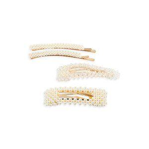 Crystal Pearl Hair Pin Set {Riah}